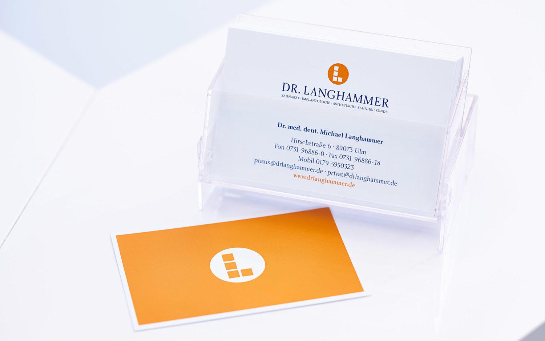 Visitenkarten – Zahnarztpraxis Dr. Langhammer Ulm